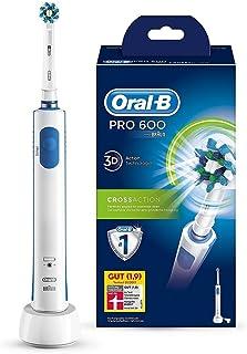 Oral-B PRO 600 CrossAction - Cepillo de dientes electrico recargable con tecnologia Braun