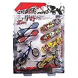 ECMQS Tech Deck Jeu de 8 jouets pour tromper l'ennui Avec vélos et skateboards Jeu pour enfants et cadeau