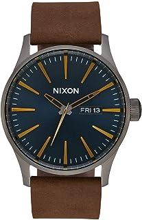 Nixon Men`s A105 Sentry 42mm Stainless Steel Leather Quartz Movement Watch
