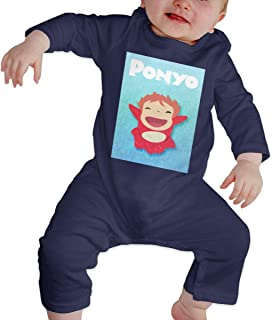 PORRO Baby Boys Girls Crew Neck Short-Sleeve Bodysuit Spirited Away Funny Crawling Clothes Black