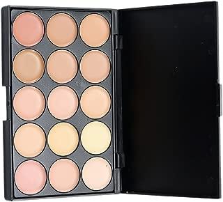 MagiDeal Professional 15 Colors Makeup Concealer Palette Matte Camouflage Contour Face Eye Foundation Base Cream