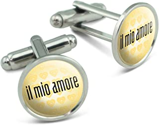 Il Mio Amore My Love in Italian Men's Cufflinks Cuff Links Set