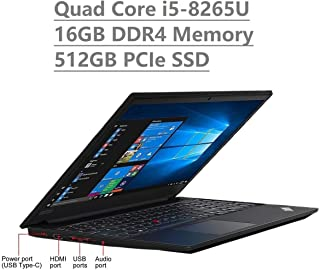 """Lenovo Thinkpad E590 15.6"""" HD Business Laptop (Intel Quad Core i5-8265U, 16GB DDR4 Memory, 512GB PCIe 3.0(x4) NVMe SSD M.2..."""