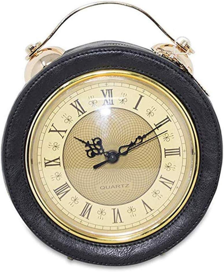 HUAXM Horloge Sac féminin réel de Travail, Sac de Messager Vintage chaîne Steampunk Sac à Main Sac à bandoulière Femme chaîne drôle de Cadeau de Noël Gothique Porte-Monnaie,c A