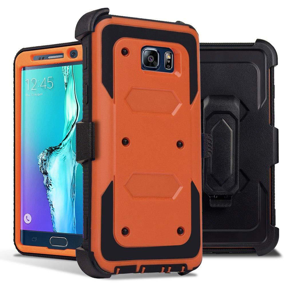 samsung galaxy s6 edge orange cases amazon comsamsung galaxy s6 edge plus case, j west heavy duty kickstand belt clip holster