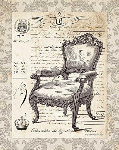 IMPRESSION-sur-TOILE-ENROULÉE-Chaise-française-II-Babbitt-Gwendolyn-Vintage-Affiche-imprimer-sur-toile-enroulée-100%coton-pour-décoration-murale-Dimensions-64_X_50_cm