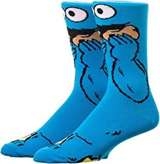 Sesame Street Cookie Monster 360-Degree Graphic Print Crew Socks