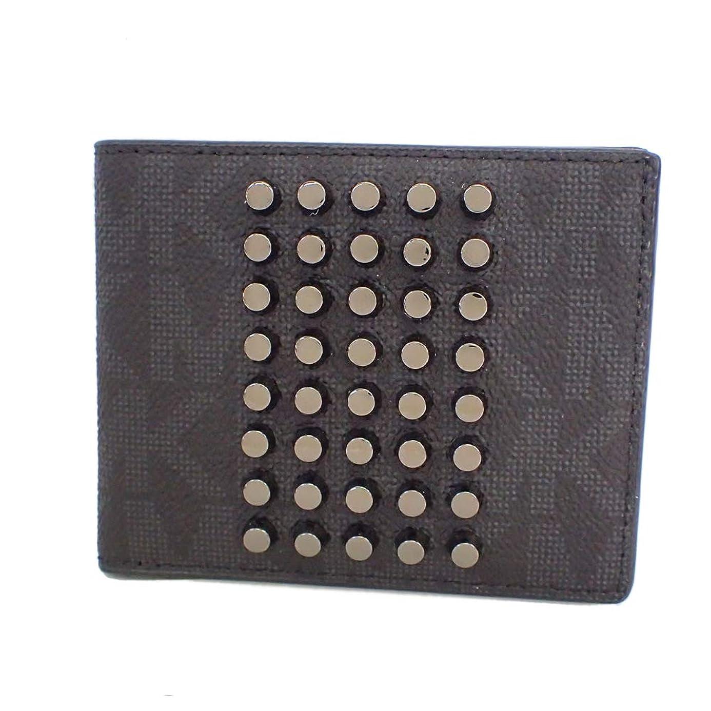 添加小麦粉交渉するマイケルコース 財布 折り財布 札入れ カード入れ ロゴ スタッズ [未使用]並行輸入品 [並行輸入品]