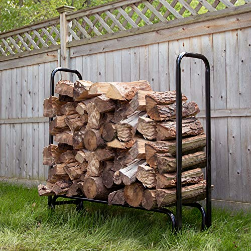 Pure Garden 50-124 Firewood Log Rack, 4'
