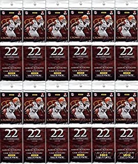 2012 Panini Crown Royale NFL Football Lot of TWELVE(12) HUGE Factory Sealed JUMBO RACK Packs with 264 Cards! Look for Autographs of Russell Wilson, Andrew Luck, Aaron Rodgers, Cam Newton & Many More!