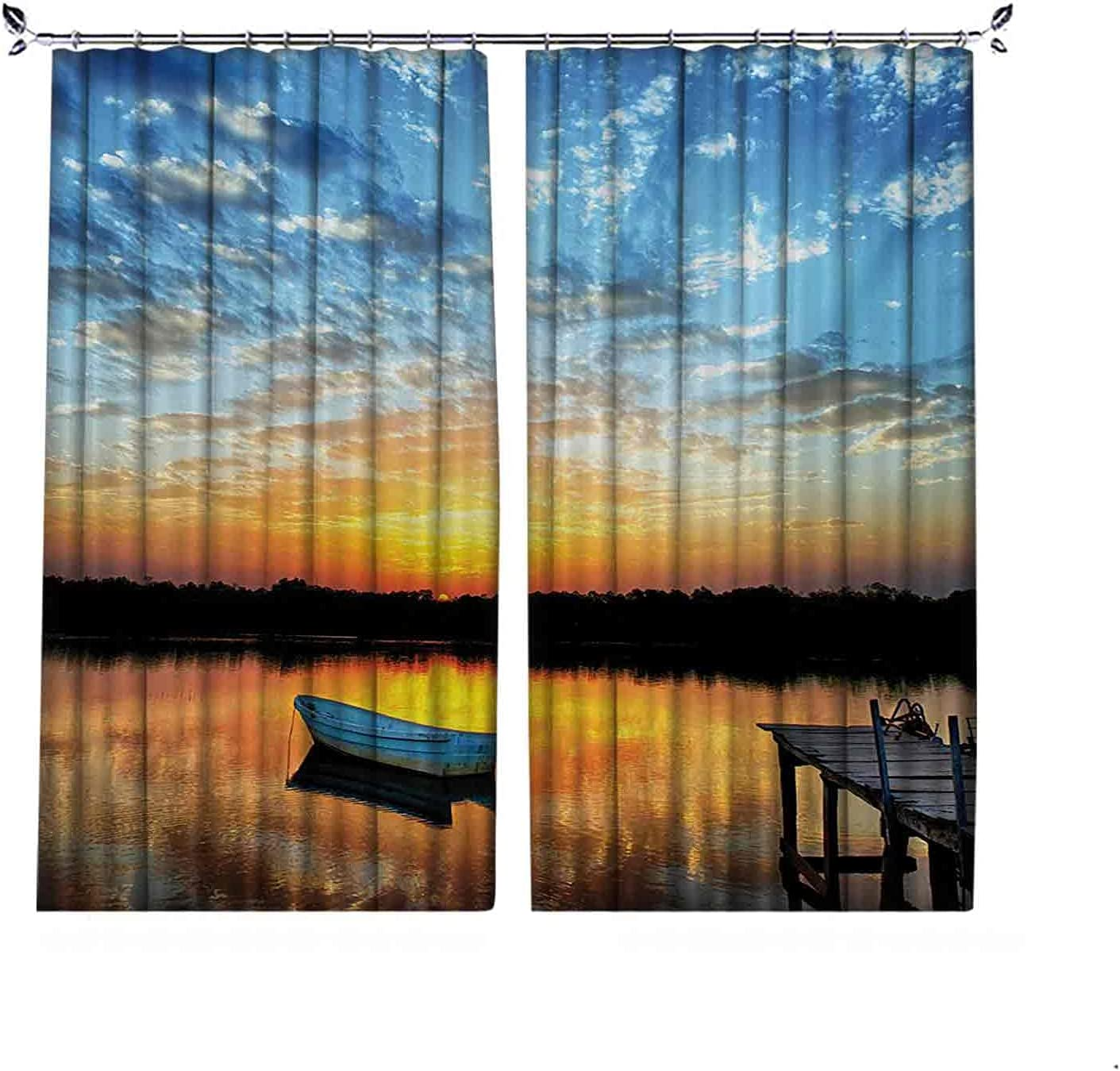 Energy Saving Blackout l Pleated High quality new Fresno Mall Boat Fishing Curtain on Little