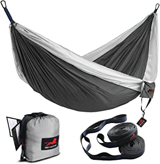 HONEST OUTFITTERS Double Camping Hammock with Hammock Tree Straps,Portable Parachute..