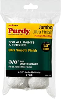Purdy 140624052 Jumbo Mini Ultra Finish Roller Replacements, 2-Pack, 4-1/2 inch x 3/4 inch nap