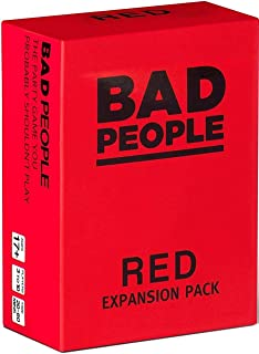 BAD PEOPLE - RED Expansion Pack 100  Question Cards - The party Game You Probably Shouldn't Play