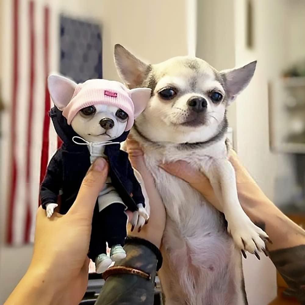 ZHEDIE Puppy Flower Statue Decoration -4pcs, Children's Resin Do
