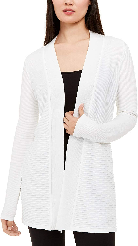 Alfani. Textured Open-Front Cardigan Soft White S