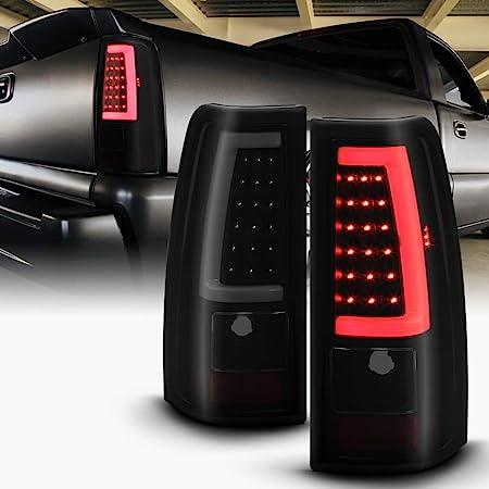 For 99-02 Silverado Sierra 1500 2500 3D Tube C Shape  LED Brake Lamp Tail Lights