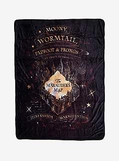 Hot Topic Harry Potter Marauder's Map Star Throw Blanket