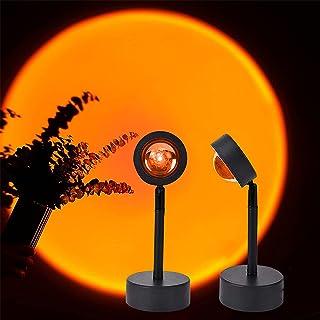 Zonsondergang Lamp, 180 ° Led Licht Projectie Lamp, Romantische Visuele Nachtlampje Lamp met USB voor Home Party Fotoshoot...