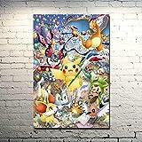 MY-supeng Pokemon Jigsaw Puzzle Puzzles, Jouets de Puzzle intellectuels en Bois 1000 pièces, pour Image de décoration de Chambre à Coucher