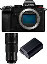 Panasonic LUMIX S5 4K Mirrorless Full-Frame L-Mount Camera (Body Only) with S-E70200 LUMIX S PRO 70-200mm Lens and DMW-BLK...