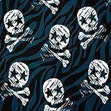 MAGAM-Stoffe Rockstar Skulls Totenköpfe Jersey Kinder