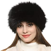 Dikoaina Womens Faux Fur Headband Winter Earwarmer Earmuff Hat Ski