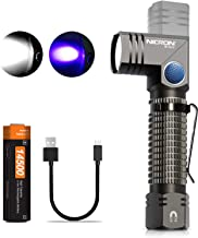 NICRON UV-blacklight LED zaklamp 700 lumen, 90 graden draaibare kop, IP65 waterdicht, 395nm ultraviolet met magneet, detec...