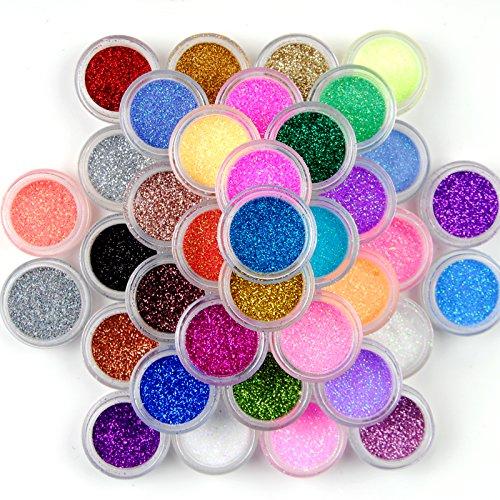 GO DHL Glitzer-Staub, für Make-up und Nagelkunst, 45 Stück
