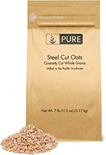 PURE Steel Cut Oats (7 lbs), also called Irish Oatmeal, Eco-Friendly Packaging