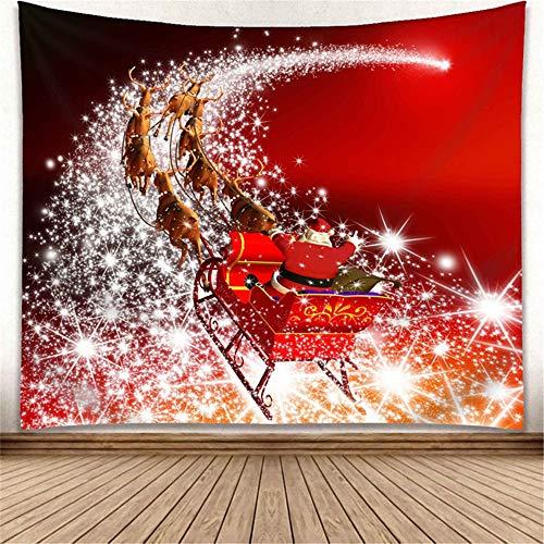 TJW Tenture Murale de décorations de Noël, Couverture de Jet de Tapisserie de Mur de Noël d'impression 3D, décoration de Fond Accessoire pour Le Salon, Chambre à Coucher, décor de dortoir (Red Santa)