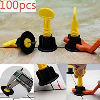 """100pcs CN-ZF Ceramic Tile Leveler +200pcs Cross Spacers(1/16"""" and 5/64"""") in total for Floor and Wall Construction Tools, Reusable Tile leveling"""