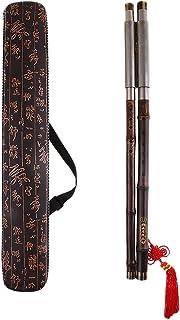 HomeDecTime Pipe En Bambou Chinois Bawu Flûte BaWu Tune G Bande à Vent Détachable et Flûtes Orchestrales
