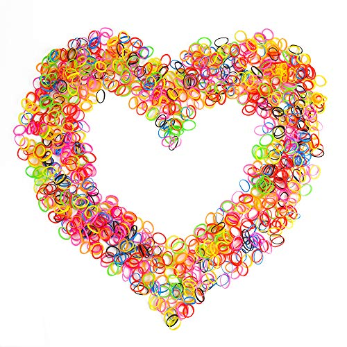 Mini Hair Bands Hair Ties, 1000PCS Small Size Multiple Color Elastic Hair Bands Ties for Women,Girls or Toddlers