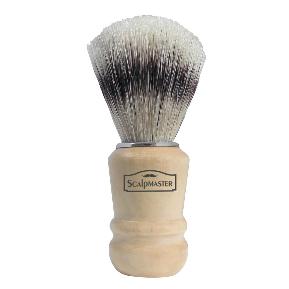 Scalpmaster Wood Handle Shaving Brush * Boar Bristle #sb-15
