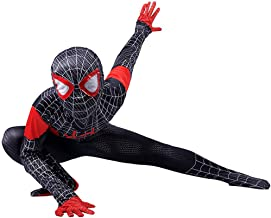 Disfraz Spiderman Niño, Spiderman Disfraz Niño, Halloween Carnaval Homecoming Superheroe Spiderman Mascara Niño Cosplay Suit Traje De Spiderman Niño, Disfraz De Spiderman Niño,Black-S(112cm~122cm)