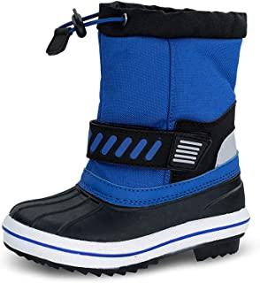 TF STAR Boys Girls Toddler Ankle Winter Snow Boots, Outdoor Waterproof Cold Weather Snow Boots for Children/Kids