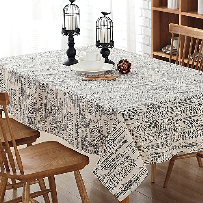 VLIMG Tischdecken, Moderne einfache englische Tischdecke der Haushaltsbaumwolle, englische Buchstaben, 120  160cm B07B2WRZ3Q Modisch | Sale Düsseldorf