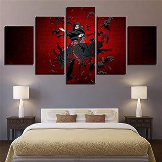 Whian 5 Pièces/Set Dessin Animé DIY Peinture sur Toile Murale Tableaux Impression Posters Et Arts Décorations Uchiha Itach...