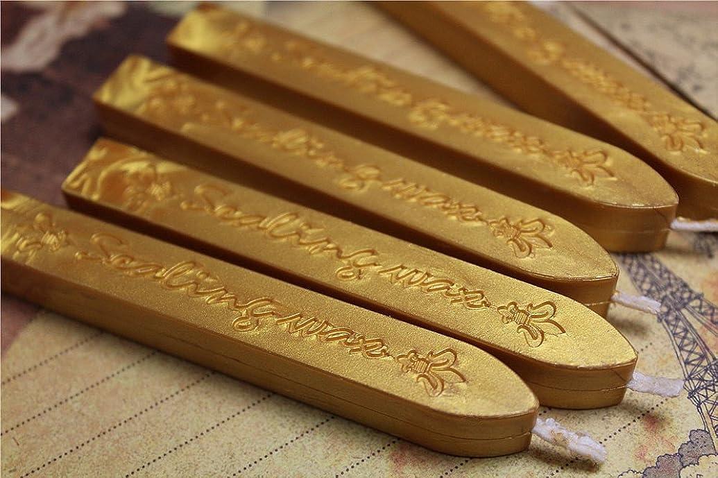 Manuscript Sealing Seal Wax Sticks Wicks for Postage Letter (10PCS Vintage gold)
