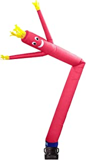 Skyerz Inflatable Advertising Sky Air Puppet Wacky Waving Arm Flailing Tube Man with Blower, 20 Feet, Pink