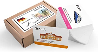 CARDDIA German Vocabulary Flashcards for Beginners (Illustrations - with Example Sentences)