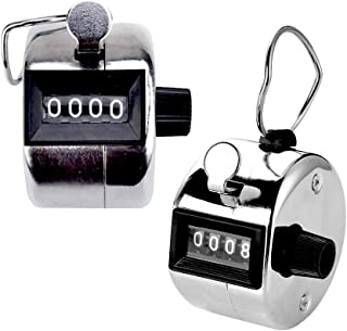 Rubik Tally Counter, Handheld Mechanical Clicker, Silver (Pack of Two)