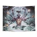 Indisch Buddha Chakra Wandteppich Hippie Bohemian Meditation Wandbehang Tapestry Tapisserie Wandtuch Tischdecke Strandtuch 200x150cm