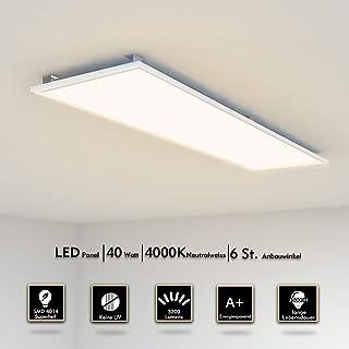 Plafonnier LED 120x30cm 40W Ultra Mince Dalle Lumineuse Suspension Luminaire  Lampe De Plafond éclairage Intérieur