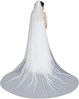Bridal Veils Black Lace Edge Veil RedBlackWhiteIvory Tulle Cathedral Wedding Veil One Layer Veil