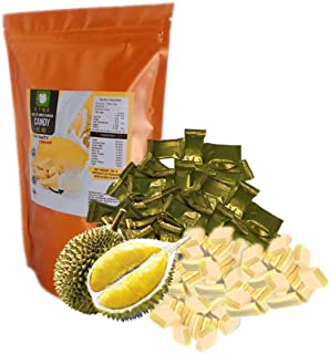 Durian Monthong Flavor Soft Gummy and Chewy Toffy Candy 5.29 Oz. (150 g.) Thailand King of fruit sweet and delicious.