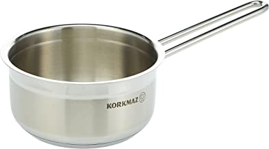 Korkmaz Alfa Stainless Steel Induction-Ready Casserole, Low Casserole, Saucepan with Tri-Ply Encapsulated Base (Saucepan -...