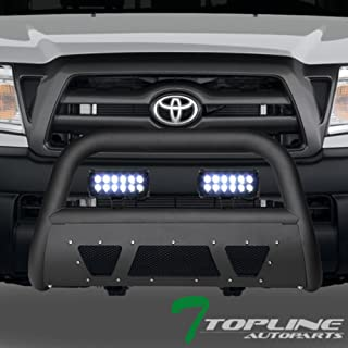 Topline Autopart Matte Black Studded Mesh Bull Bar Brush...