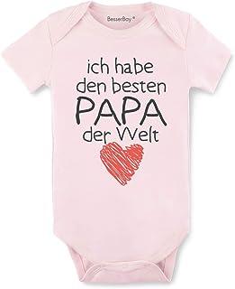 BesserBay Baby Body Strampler - Besten Papa der Welt - Geschenk für Vater
